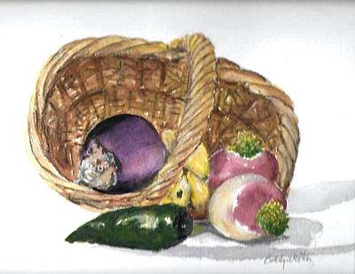 Painting - Veggie Basket by Bobby Walters