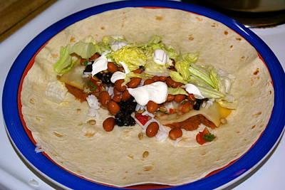 Photograph - Veggie Burrito by Ben Upham III