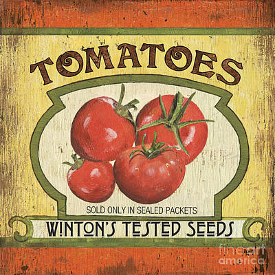 Tomatos Painting - Veggie Seed Pack 3 by Debbie DeWitt