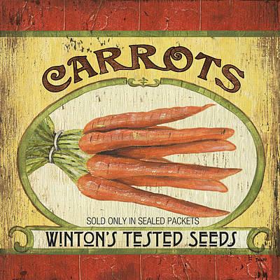 Carrot Painting - Veggie Seed Pack 4 by Debbie DeWitt