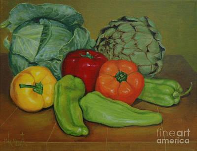 Painting - Veggie Still Life by Michael Nowak