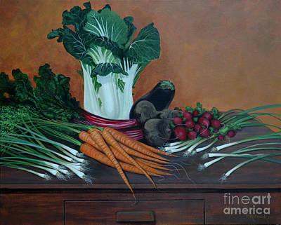 Painting - Veggie Still Life No. 3 by Michael Nowak