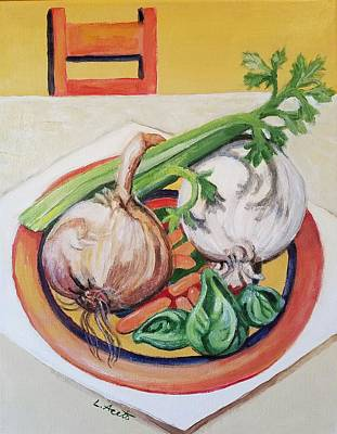 Painting - Veggie Table by Laura Aceto