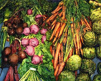 Digital Art - Veggie Varieties by Ric Darrell