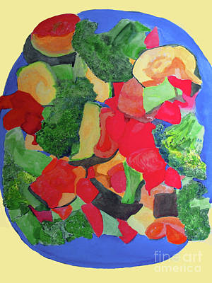 Broccoli Painting - Veggies Two by Sandy McIntire