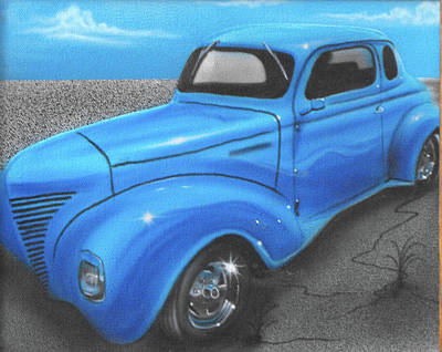 Painting - Vehicle- Blue Truck by Shawn Palek