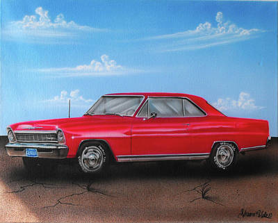 Painting - Vehicle- Red Car by Shawn Palek