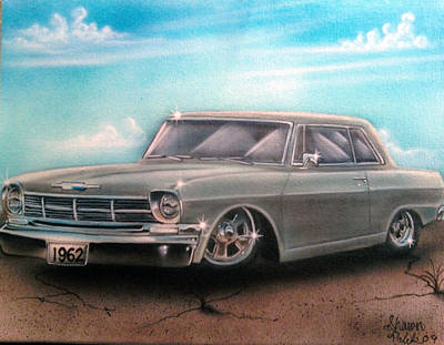 Painting - Vehicle- Silver by Shawn Palek