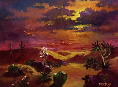 Painting - Veil Of Light Under The Desert Sun. by Randol Burns
