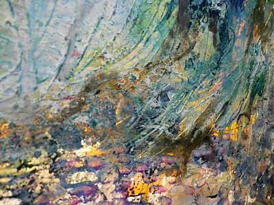Palette Knife Painting - Veiled In Nature by Karen Lillard