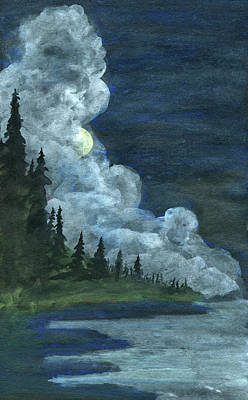 Painting - Veiled Moon by R Kyllo