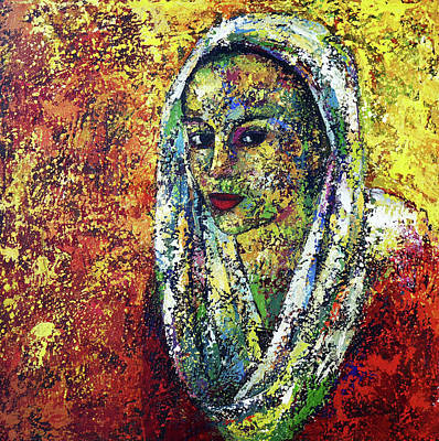 Painting - Veiled She by Ronex Ahimbisibwe