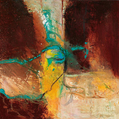 Large Format Painting - Vein Turquoise by Pat Saunders-White