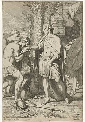 Painting Royalty Free Images - Veldheer gives mercy to defeated soldiers, Gerard de Lairesse, 1670 Royalty-Free Image by Gerard de Lairesse