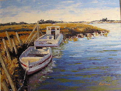 Veldrift Boats Art Print by Yvonne Ankerman
