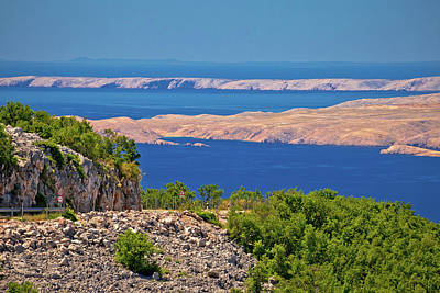 Photograph - Velebit Channel Seaside Road And Desert Islands Of Pag And Rab V by Brch Photography