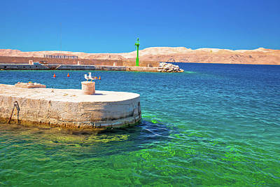 Photograph - Velebit Channel Turquoise Waterfront In Karlobag  by Brch Photography