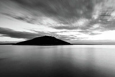 Photograph - Veli Osir Island In Black And White, Losinj Island, Croatia. by Ian Middleton
