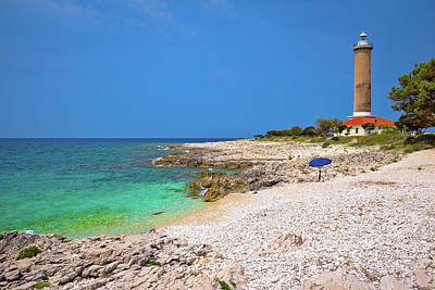 Photograph - Veli Rat Lighthouse And Turquoise Beach View by Brch Photography