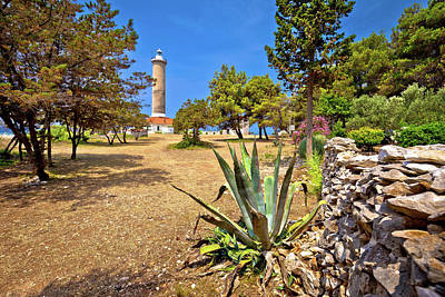 Photograph - Veli Rat Lighthouse In Green Mediterranean Landscape by Brch Photography