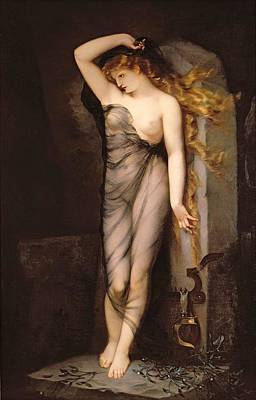 Temptress Painting - Velleda by Charles Voillemot