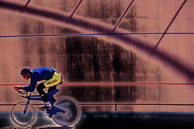 Velo Cyclist Art Print