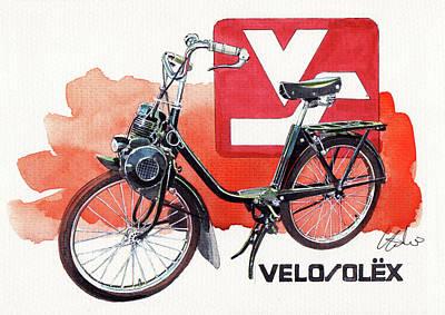 Velo Painting - Velo Solex by Yoshiharu Miyakawa
