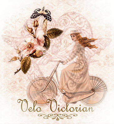 Victorian Era Digital Art - Velo Victorian by KaFra Art