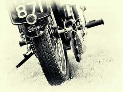 Velocette Abstract Print by Tim Gainey