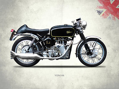 Venom Photograph - Velocette Venom 1958 by Mark Rogan