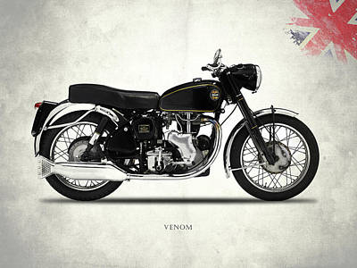Venom Photograph - Velocette Venom 1960 by Mark Rogan