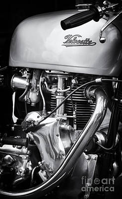 Venom Photograph - Velocette Venom Monochrome by Tim Gainey