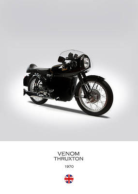 Venom Photograph - Velocette Venom Thruxton 500 by Mark Rogan