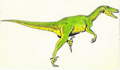 Velociraptor Art Print by Michael Vigliotti