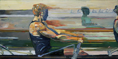Row Painting - Velocity by Revere La Noue
