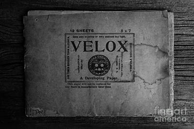Photograph - Velox Developing Paper Antique Paper by Edward Fielding