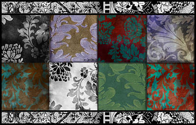 Tapestries Textiles Painting - Velvet And Damask Tapestry by Mindy Sommers