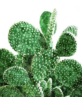 Digital Art - Velvet Cactus by Uma Gokhale