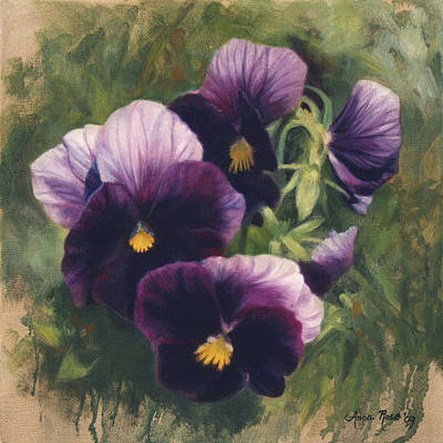 Pansy Painting - Velvet Clowns II by Anna Rose Bain