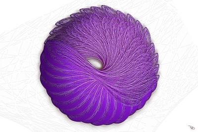 Wall Art - Digital Art - Velvet Donut by Warren Lynn