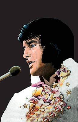 Velvet Elvis Art Print