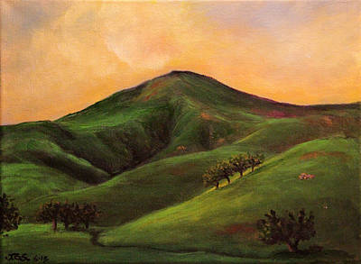 Painting - Velvet Hills And Orange Sherbet Skies by Janet Greer Sammons
