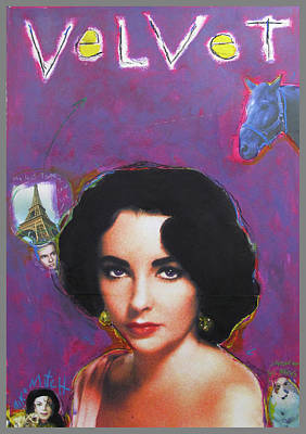 Elizabeth Taylor Mixed Media - Velvet by Mike  Mitch
