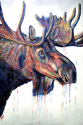 Painting - Velvet Moose by Teshia Art
