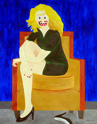 Funism Painting - Velvet On Suede by Sal Marino