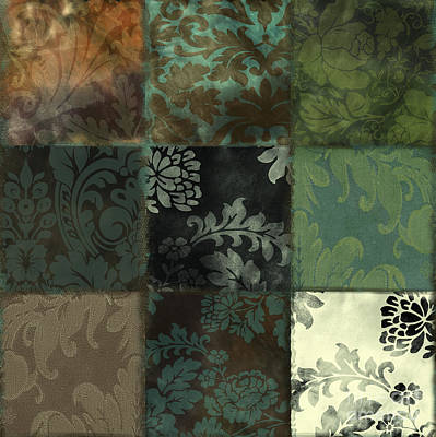 Tapestries Textiles Painting - Velvet Patch Emerald by Mindy Sommers