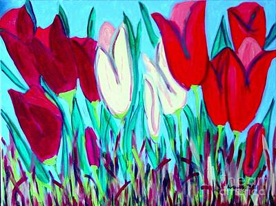 Painting - Velvet Tulips by Laurie Morgan