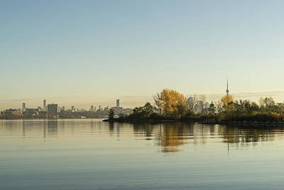 Photograph - Velvety Serenity - Toronto Skyline Through The Trees by Georgia Mizuleva