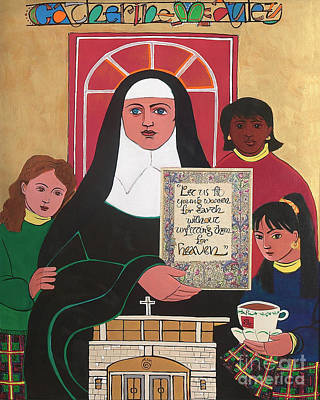 Painting - Ven. Catherine Mcauley - Mmvcm by Br Mickey McGrath OSFS