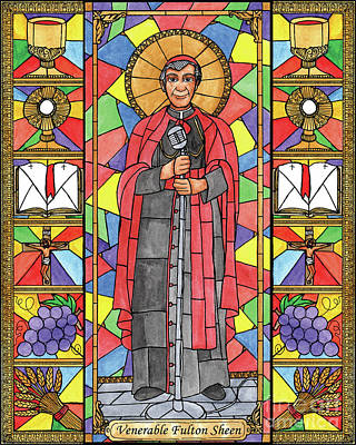 Painting - Ven. Fulton Sheen by Brenda Nippert